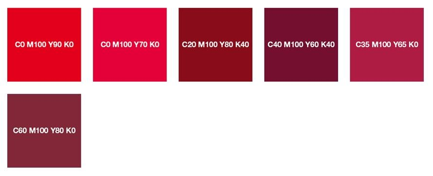 Чистый красный и бордовый