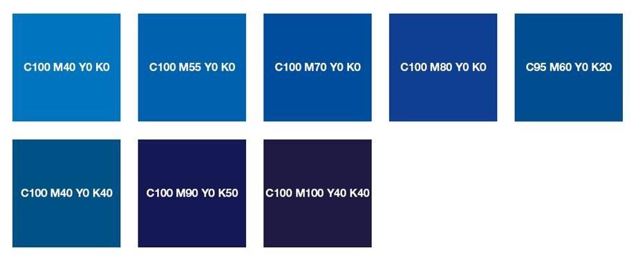 Чистый синий и ночной синий